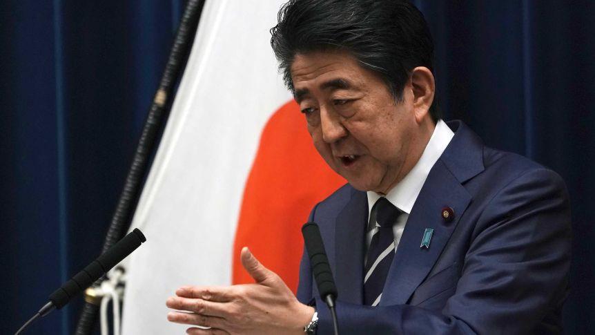 जापानका प्रधानमन्त्री आबेले राजीनामा दिँदै