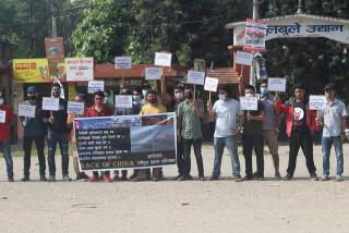 परराष्ट्रमन्त्री ज्ञवलीकाे राजीनामा माग गर्दै एकता अभियानकाे प्रदर्शन