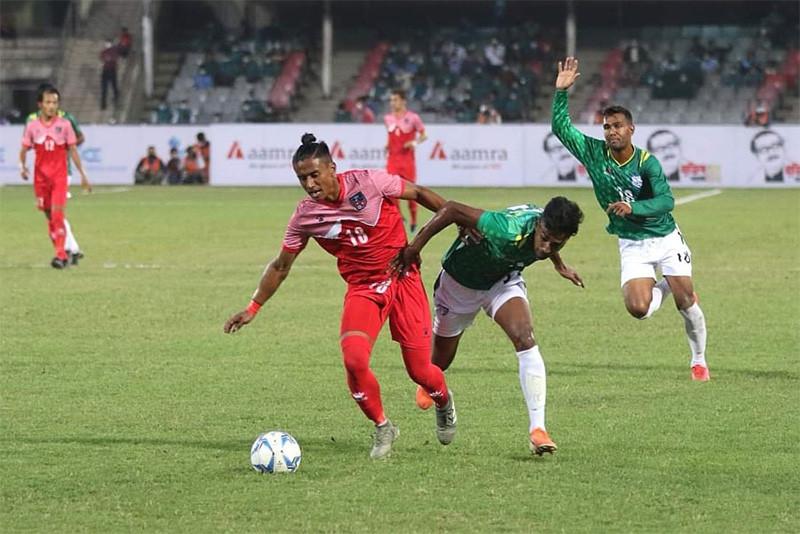 बंगलादेशसँग नेपाल २ गोलले पराजित