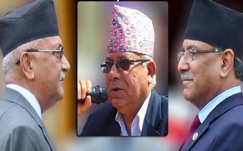 ओलीले अध्यक्ष छोडे माधव नेपाल अध्यक्ष र प्रधानमन्त्री छोडे प्रचण्ड प्रधानमन्त्री बन्ने