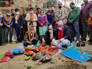 भारतको आर्थिक सहयोगमा चन्द्रागिरीको विष्णुदेवी माविको पुनर्निर्माण सुरू