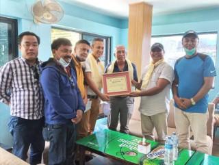नेपाल सास्कृतिक सघले नेपाल पत्रकार महासंघ लमजुङका नव निर्वाचित कार्य समितिलाई गर्यो  सम्मान